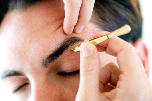 Männer Augenbrauen