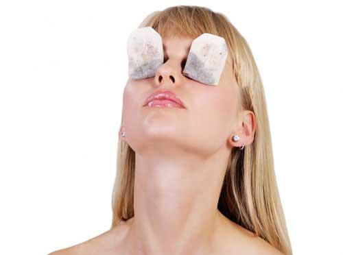 Teebeutel gegen Augenringe